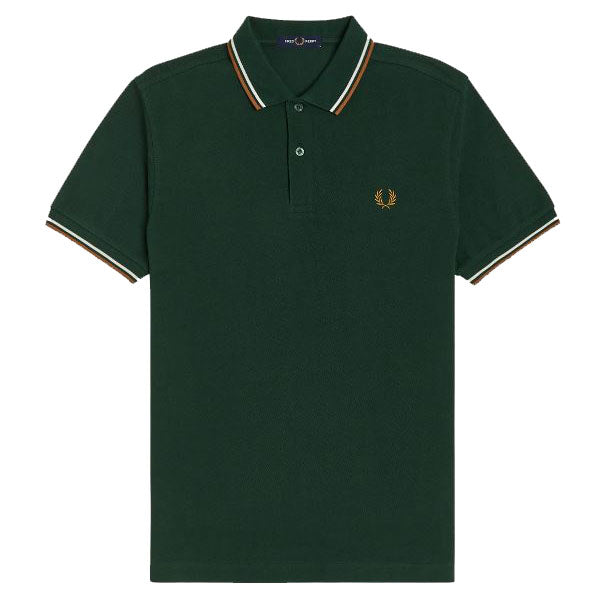 Fred Perry Twin Tipped Polo Shirt <p> Evergreen