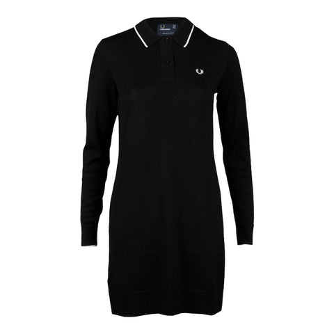 Fred Perry Knitted Dress<p>Black