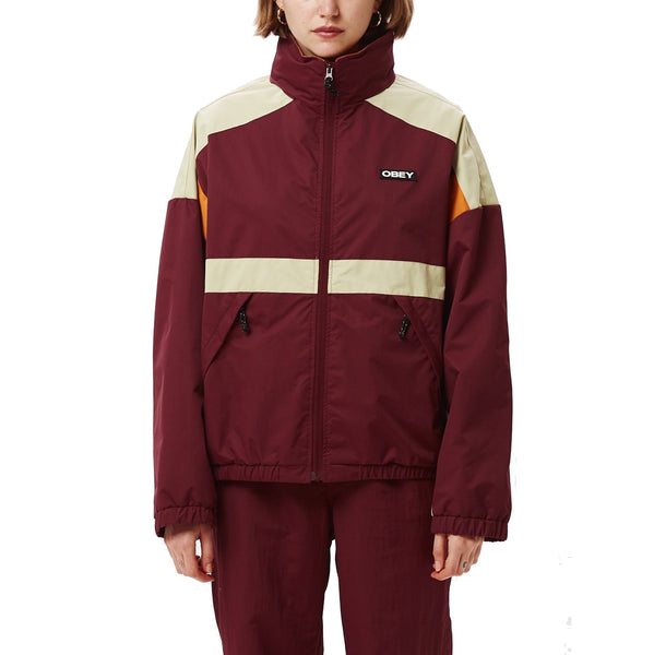 OBEY Parquet Jacket<p>Plum