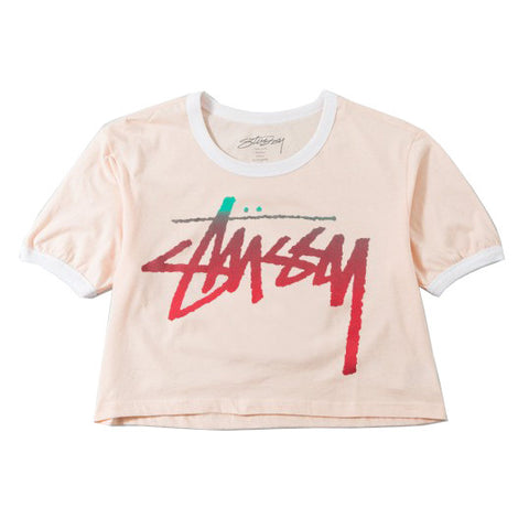 Stüssy Fade Cropped Ringer<p>Pink