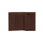 Levi's Oiled Batwing Bifold With Coin Wallet<p>Dark Brown