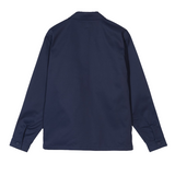 Stussy Poly Cotton Zip Up Shirt<p>Navy