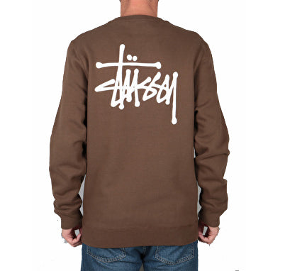 Stussy Basic Crew<p>Chocolate