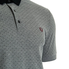 Fred Perry Polka Dot Oxford Pique Shirt <p> Dark Carbon OXF