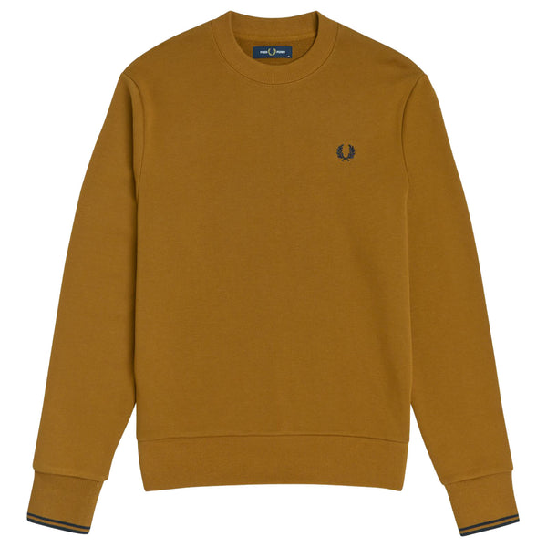Fred Perry Crew Neck Sweatshirt <p> Dark Caramel