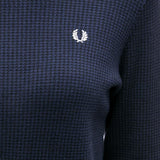 Fred Perry Houndstooth Trurtle Neck Jumper<p>Black