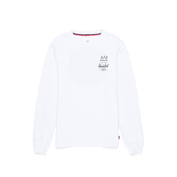 Herschel ft. Basquiat Record Long Sleeve Tee <p>White