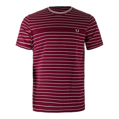 Fred Perry Piqué Stripe T-Shirt<p>Claret