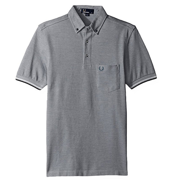 Fred Perry Oxford Piqué Polo Shirt<p>Dark Carbon Oxford