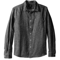 HUF Course Long Sleeve Chambray Shirt<p>Black