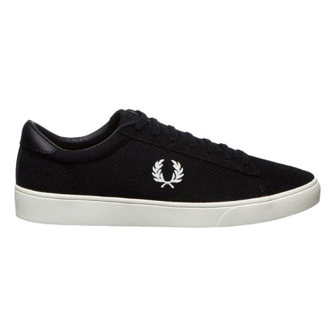 Fred Perry Spencer Knit/leather <p>Black