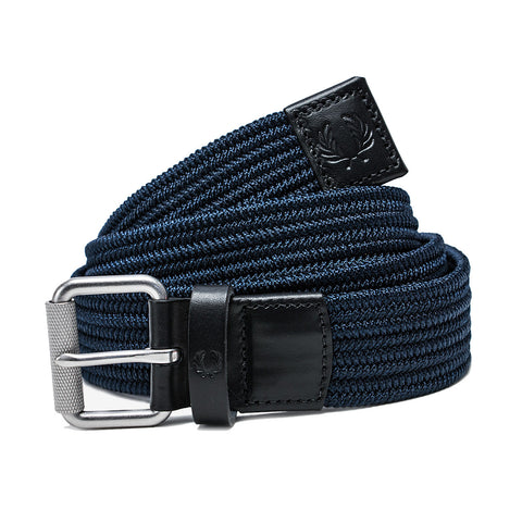 Fred Perry Plain Woven Cord Belt<p>Navy