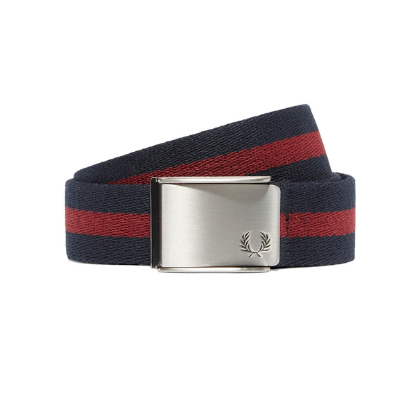 Fred Perry M2 Tipped Webbing Belt<p>Navy/Maroon