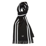 Fred Perry College Scarf<p>Black/Porcelain