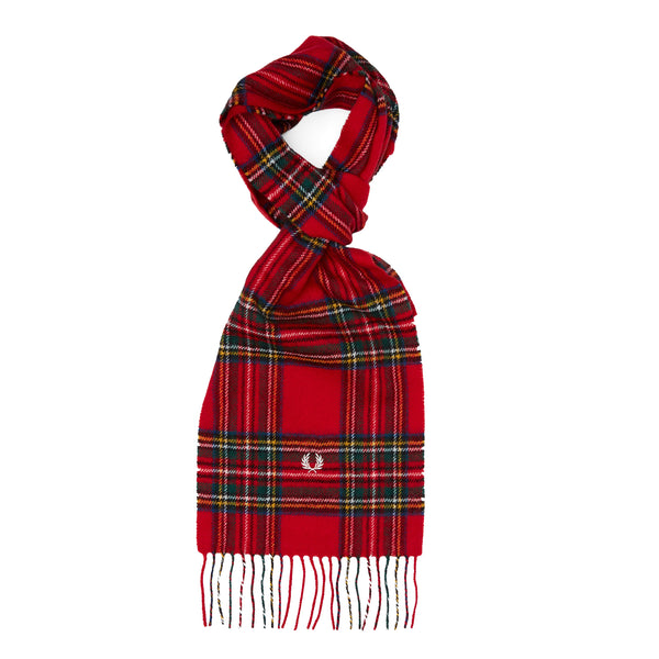 Fred Perry Royal Stewart Tartan Scarf<p>Red