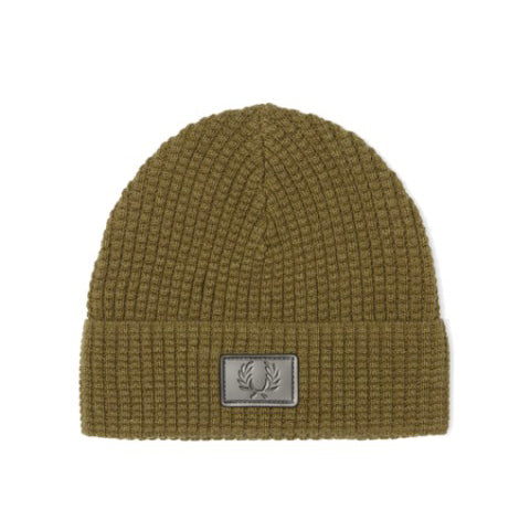 Fred Perry Waffle Knit Beanie<p>Olive