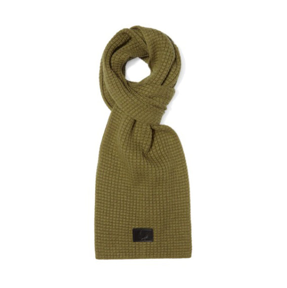 Fred Perry Waffle Knit Scarf<p>Olive