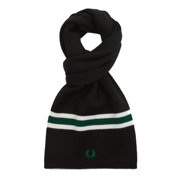 Fred Perry Merino Wool Scarf<p>Black