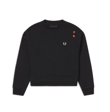 Fred Perry vs Amy Winehouse Heart Sweatshirt<p>Black