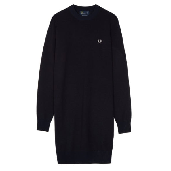 Fred Perry Knitted Crew Neck Dress<p>Navy