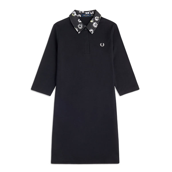 Fred Perry Printed Collar Dress<p>Black