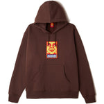 OBEY X Dickies Heavyweight Pullover Hood<p>Chocolate Brown