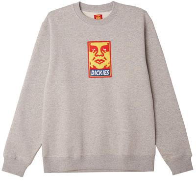 OBEY X Dickies Heavyweight Crewneck<p>Grey Melange
