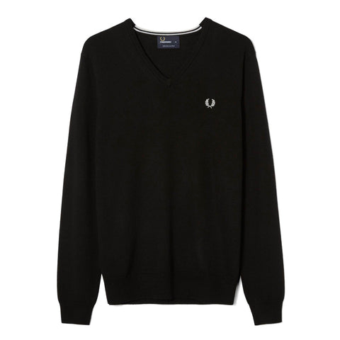 Fred Perry Classic V-Neck Jumper<p>Black