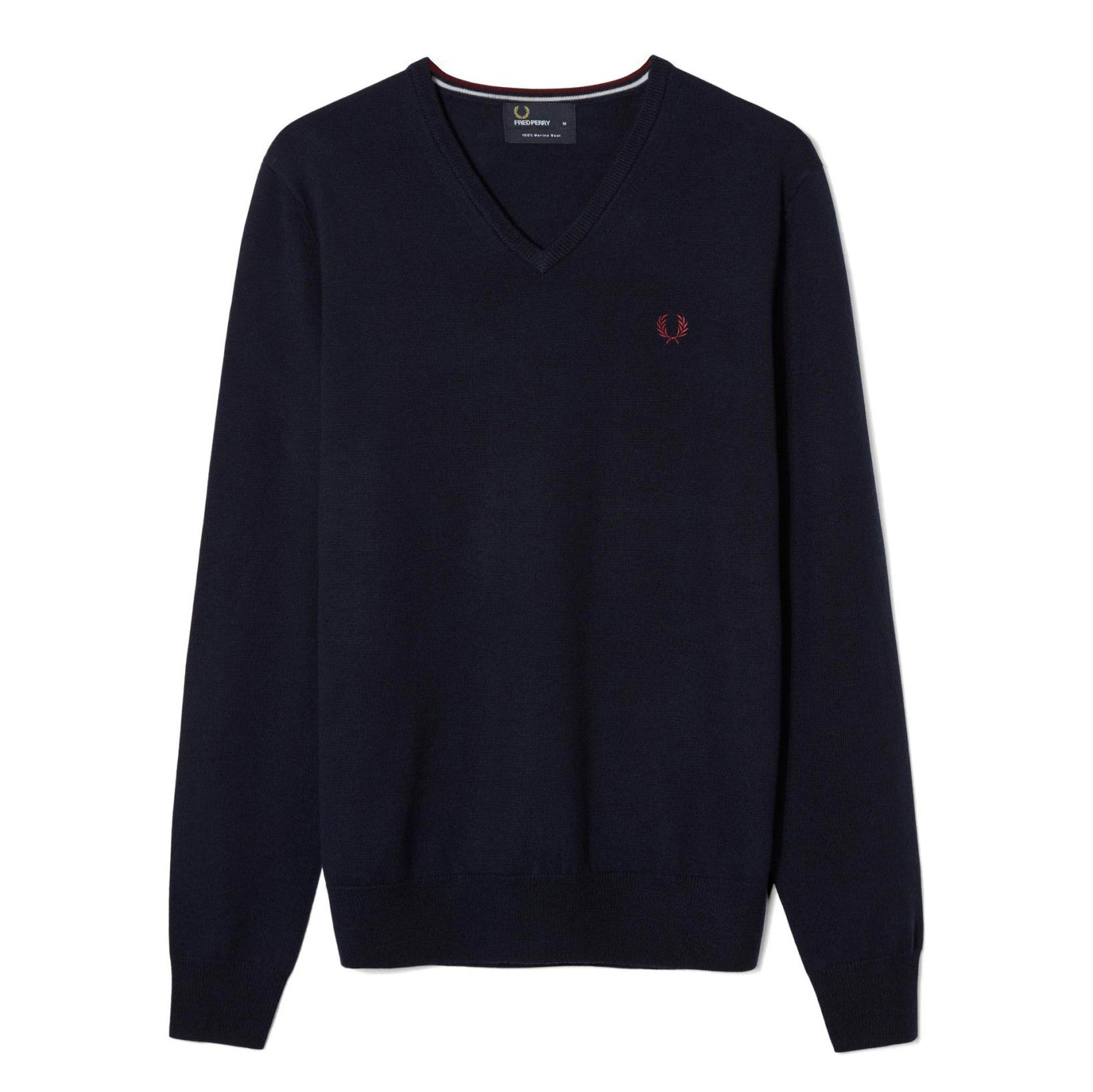 Fred Perry Classic V-Neck Jumper<p>Dark Carbon
