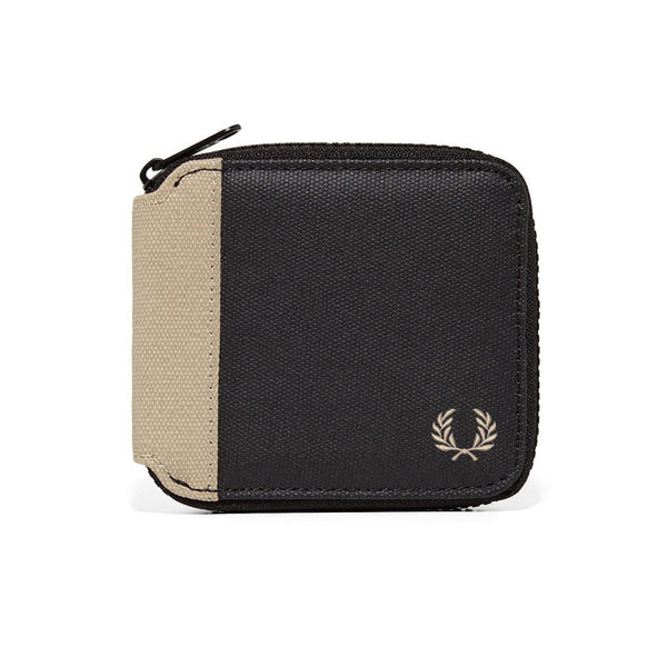 Fred Perry Coated Canvas Zip Around Wallet <p>French Navy
