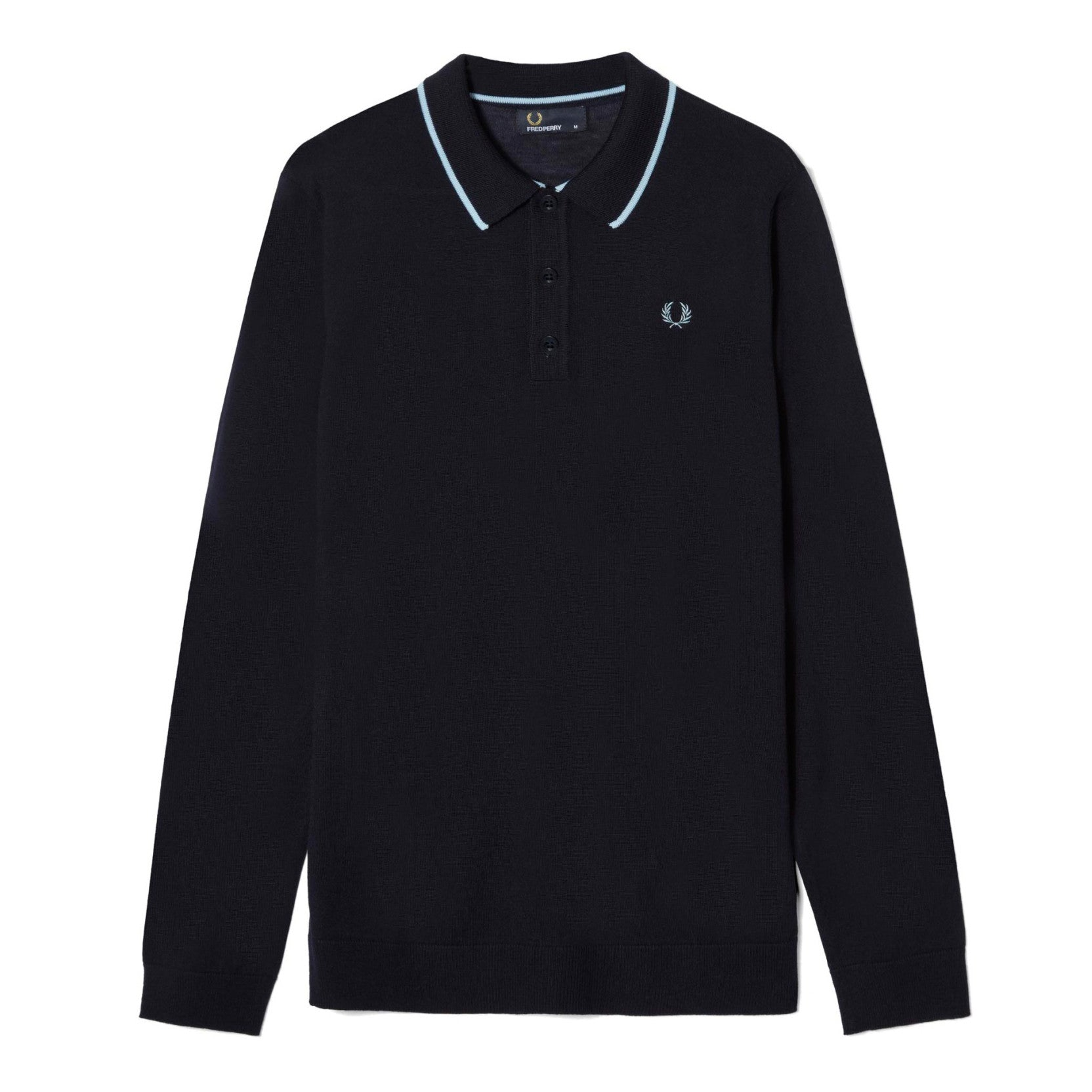 Fred Perry Fine Merino Knitted Shirt<p>Navy