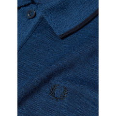 Fred Perry Fine Merino Knitted Shirt<p>Royal Marl
