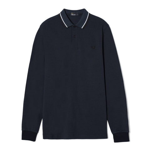 Fred Perry Long Sleeve Twin Tipped Shirt<p>Service Blue