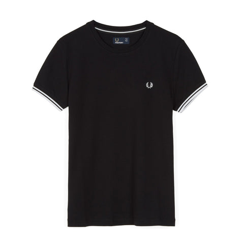 Fred Perry Tipped T-Shirt<p>Black
