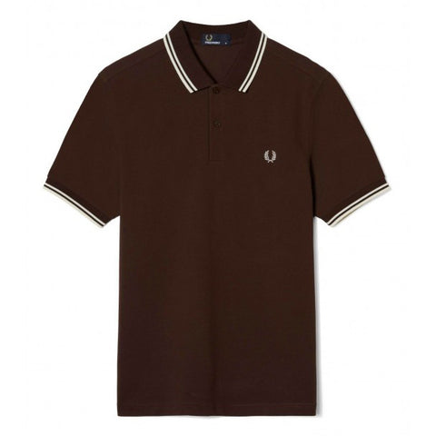 Fred Perry Twin Tipped Shirt<p>Dark Chocolate