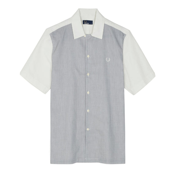 Fred Perry Stripe Panel Shirt<p>Snow White