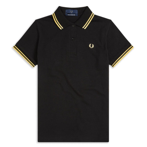 Fred Perry G12 Made in England<p>Black/Champagne
