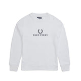 Fred Perry Embroidered Sweatshirt<p>White