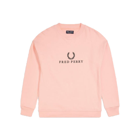 Fred Perry Embroidered Sweatshirt<p>Iced Coral