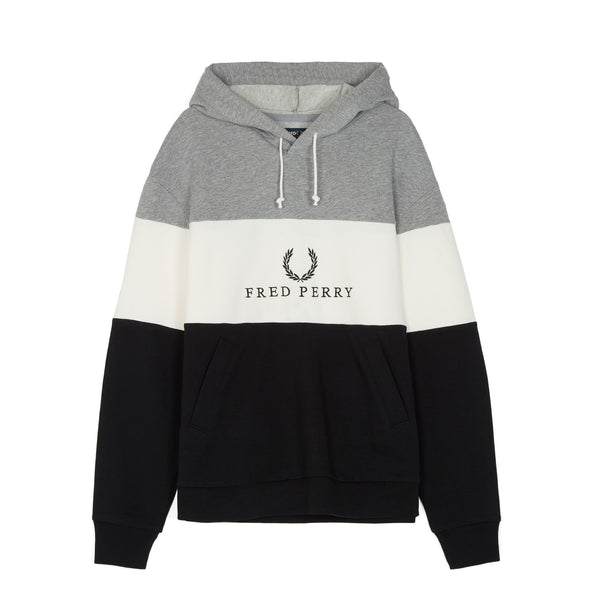 Fred Perry Sports Authentic Embroidered Panel Sweatshirt<p>Black