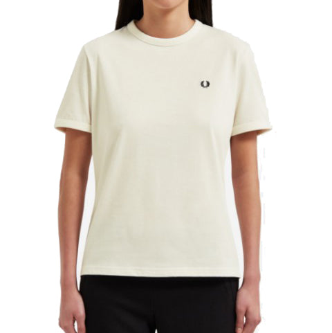 Fred Perry <p> Ringer Tee <p> White