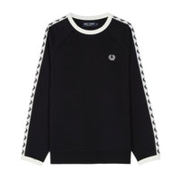 Fred Perry Taped Crew Neck Sweatshirt<p>Black
