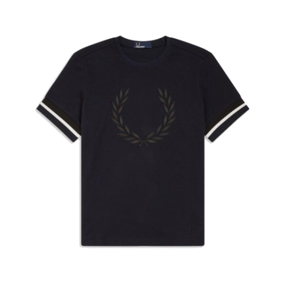 Fred Perry Embroidered Laurel Wreath T-Shirt <p>Black