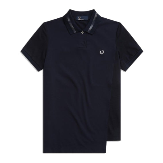 Fred Perry Overlay Polo Shirt<p>Navy