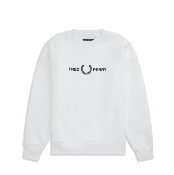 Fred Perry Graphic Light Sweatshirt<p>White