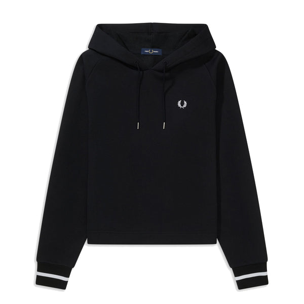 Fred Perry Graphic Hooded Sweatshirt<p>Black