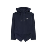 Fred Perry Fishtail Hooded Sweatshirt<p>Navy