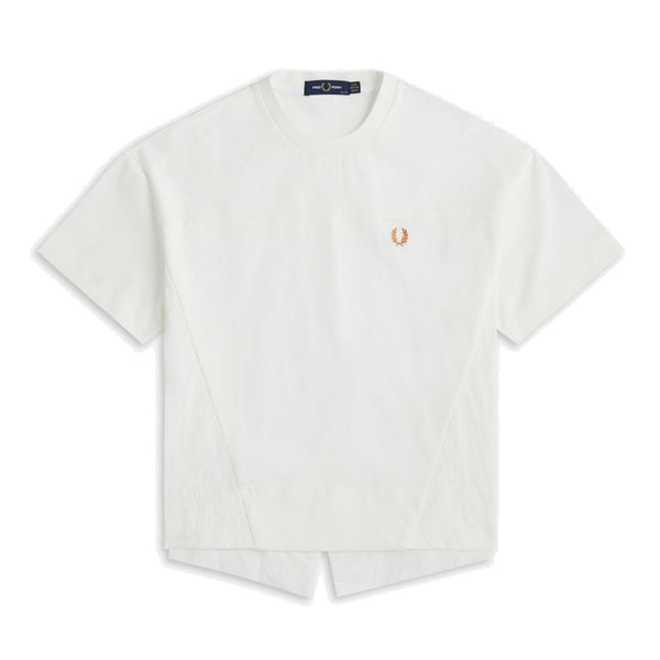 Fred Perry Panelled Shirt<p>Snow White