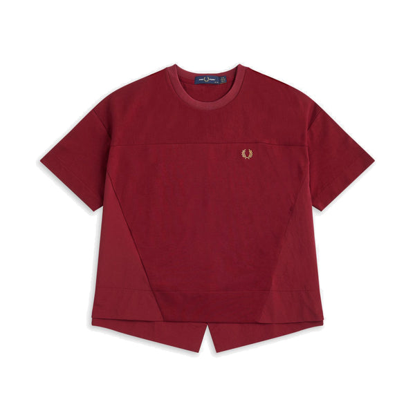 Fred Perry Panelled Shirt<p>Dark Red