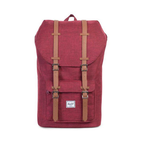 Herschel Little America Backpack<p>Winetasting Crosshatch/Tan Synthetic Leather